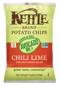 Kettle - Chips - Avocado Oil, Chili Lime w/Citrus Infused Sea Salt