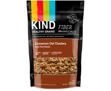 Kind - Healthy Grains, Cinnamon Oat Clusters w/Flax Seeds