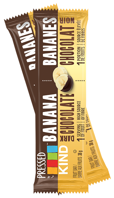 Kind - 4-Pack, Pressed, Banana Dark Chocolate