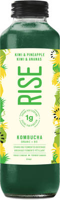 Rise - Kombucha, Low Sugar, Kiwi & Pineapple, Organic