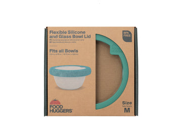 Food Huggers  - Silicone and Glass Bowl Lid - Medium