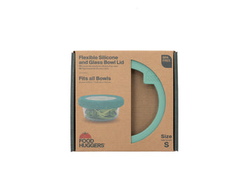 Food Huggers  - Silicone and Glass Bowl Lid - Small