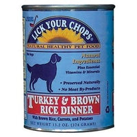 Lick Your Chops - Canned Dog Food, Turkey & Brown Rice