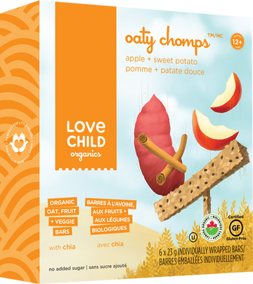 Love Child Organics - Oaty Chomps, Apple & Sweet Potato, Organic