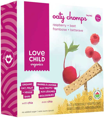 Love Child Organics - Oaty Chomps, Cherry & Spinach, Organic