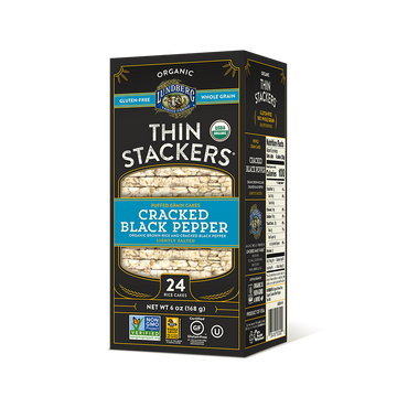 Lundberg - Thin Stackers, Brown Rice, Cracked Black Pepper