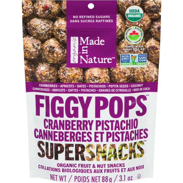 Made In Nature - Figgy Pops, Cranberry Pistachio, Organic