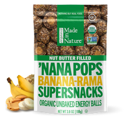 Made In Nature - Nana Pops, Nut Butter Filled, Banana, Organic