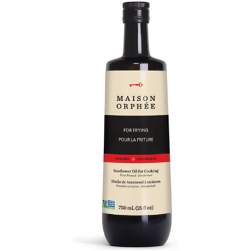 Maison Orphee - Sunflower Oil, For Cooking, Deodorized, Organic, Large
