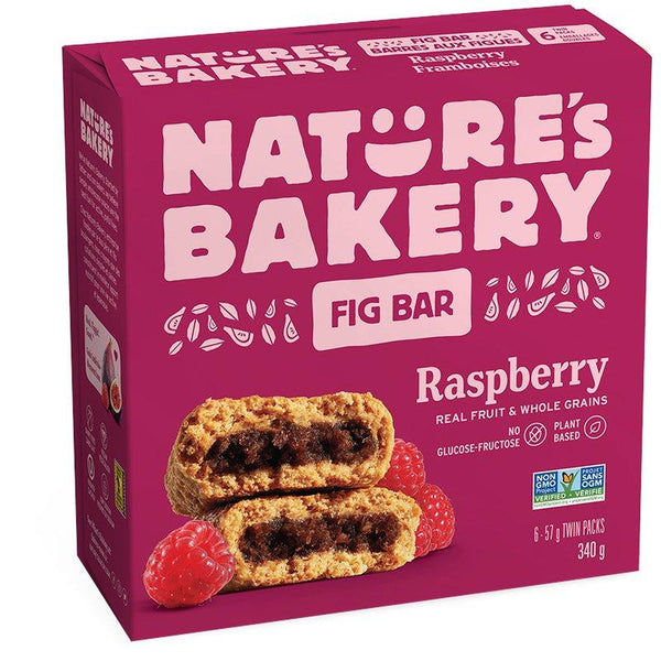 Nature's Bakery - 6-Packs, Fig Bar, Whole Wheat, Raspberry