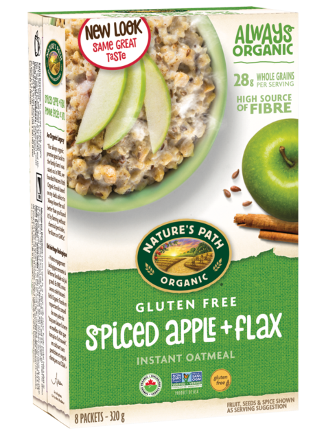 Nature's Path - Gluten Free Oats, Spiced Apple + Flax (pouches)