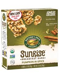Nature's Path - Breakfast Bars, Chewy, Pumpkin-N-Spice, Trail Mix