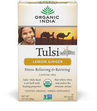 Organic India - Tulsi Tea, Lemon Ginger