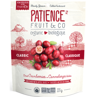 Patience Fruit & Co. - Cranberries, Classic, Apple Juice Sweetened, Organic