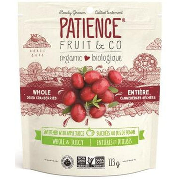 Patience Fruit & Co. - Cranberries, Whole & Juicy, Apple Juice Sweetened, Organic