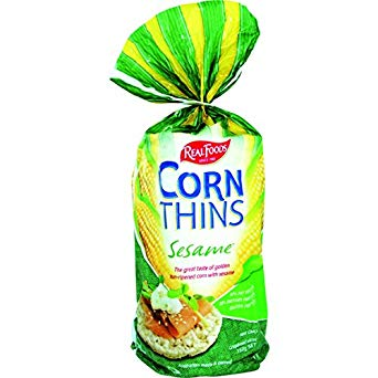 Real Foods - Corn Thins - Sesame