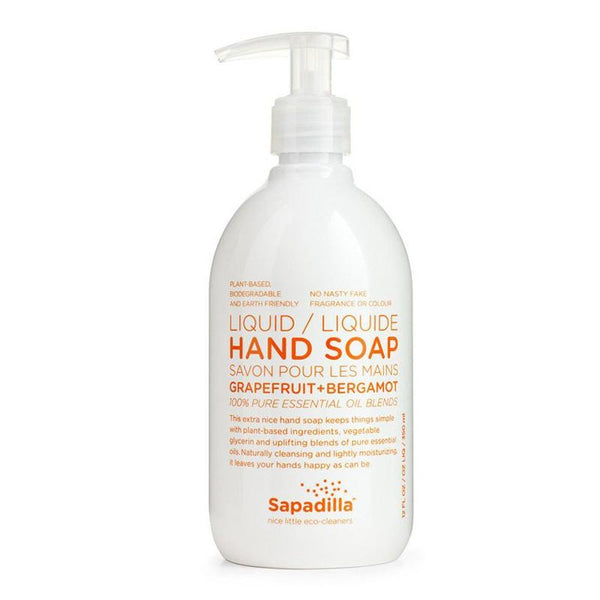 Sapadilla - Liquid Hand Soap, Pure Essential Oil Blends, Grapefruit & Bergamot