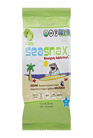 SeaSnax - Big Grab & Go, SeaSnax, Roasted Seasoned Seaweed, Lime