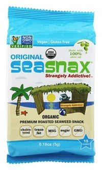 SeaSnax - Grab & Go, SeaSnax, Roasted Seasoned Seaweed, Original