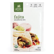 Simply Organic (Frontier) - Seasoning Mix, Fajita