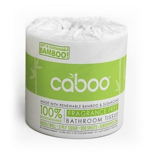 Caboo - Bathroom Tissue, 100% Biodegradable, Bamboo & Sugar Cane, 2-Ply