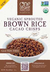 One Degree - Cereal - Sprouted Brown Rice Cacao Crisps