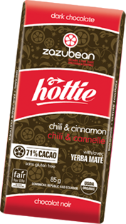 Zazubean - Hottie Bar - Chili & Cinnamon With Yerba Mate