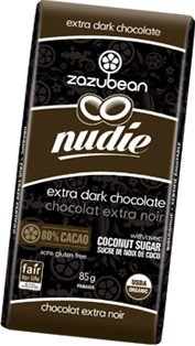 Zazubean - Nudie Bar - Extra Dark Chocolate With Coconut Sugar