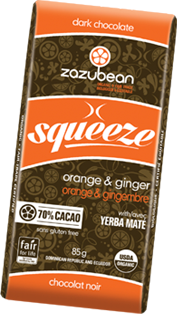 Zazubean - Squeeze Bar - Orange & Ginger With Tumeric