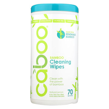 Caboo - Cleaning Wipes Bamboo w/Aloe Vera, Natural Lemon Scent (canister)