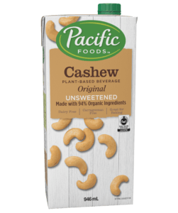 Pacific - Cashew Milk, Original, Unsweetened (94% organic ingredients)