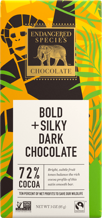 Endangered Species - Chocolate Bar Chimpanzee - Dark Chocolate