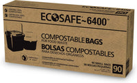 "EcoSafe - NEW EcoSafe~6400, Club Pack, Compostable, Food Waste, Mini (9.46L) (16""x17"")"
