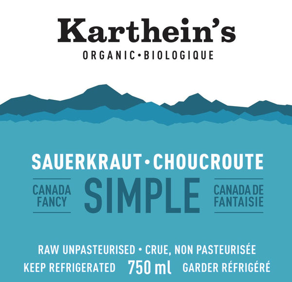 Karthein's Organic - Sauerkraut, Simple, Organic, Large