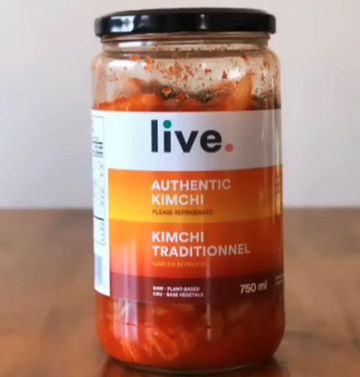 Live Organic Foods - Kimchi, Authentic (vegan), Large