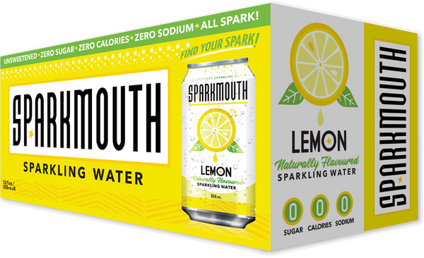 SparkMouth - Sparkling Water, Lemon