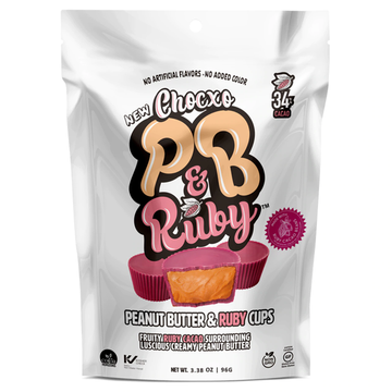 ChocXO - PB & Ruby, Peanut Butter & Fruity Ruby Cacao Cups (gluten free/NGM) (pouch)