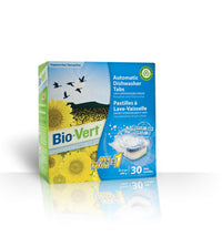 Biovert - Automatic Dishwasher Tabs, All-in-1, Fragrance Free (30 tabs)