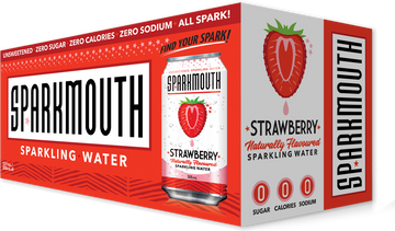 SparkMouth - Sparkling Water, Strawberry
