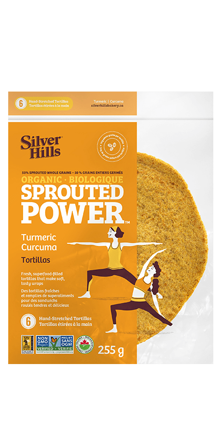 Silver Hills - Sprouted Power Tortillas, 50% Sprouted Grains, Turmeric