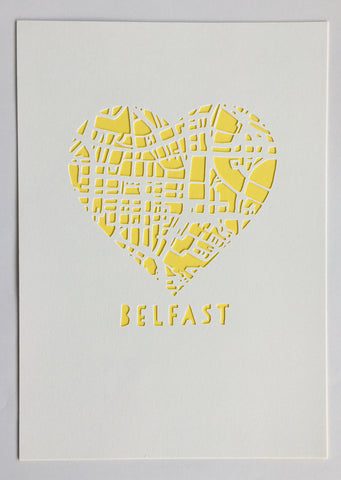 Love Belfast Paper Cut Map
