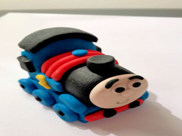 Edible Thomas the tank engine cake topper