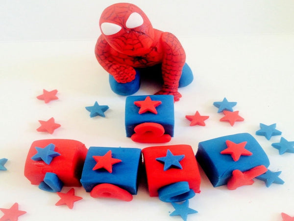 Edible Spiderman cake toppers