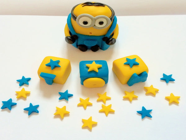 Edible minion cake decorations