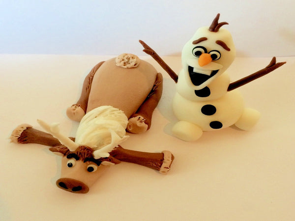 Frozen cake topper Sven and Olaf