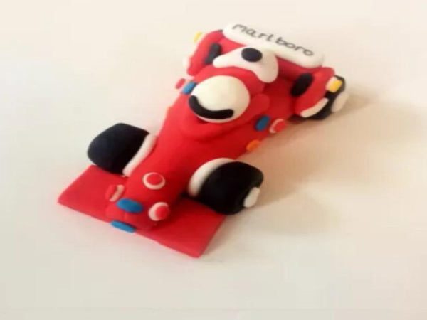 Edible f1 Car cake topper