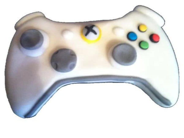 edible white xbox cake topper