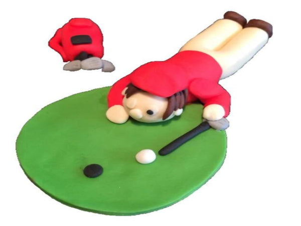 golfer cake toppers