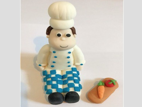 Edible Chef Cake Topper Decoration