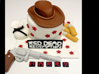 red dead redemption cake topper